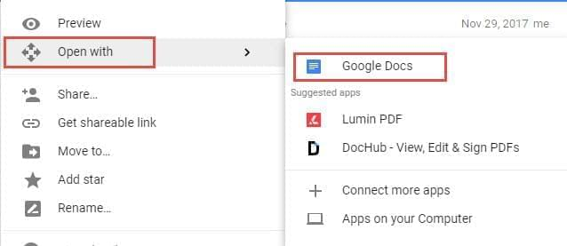 remove watermark with Google Docs